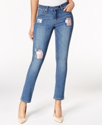 Earl Jeans A Macy's Exclusive Style Patched Medium Wash Skinny A Macy's Exclusive Style