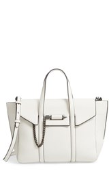Mackage Small Barton Leather Tote White White Gunmetal