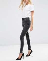 Asos 'Sculpt Me' High Rise Premium Jeans In Brooklyn Washed Black Washed Black