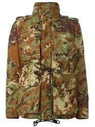 Dsquared2 Camouflage Padded Military Jacket Green