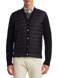 Saks Fifth Avenue Collection Mixed Media Cardigan Black