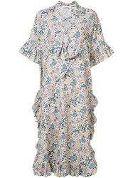 See By Chloe Floral Shift Dress Women Cotton Linen Flax 42