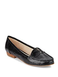Louise Et Cie Bitsy Embossed Leather Penny Loafer Black