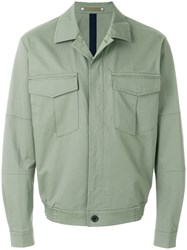 Paul Smith Ps By Chest Pocket Denim Jacket Green