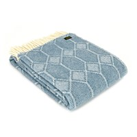 Tweedmill Churchpane Wool Throw Petrol