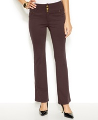 Thalia Sodi Brown Baby Bootcut Three Button Ponte Pants Truffle Brown