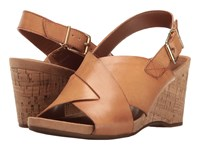 Easy Spirit Lacene Natural Leather Women's Shoes Brown
