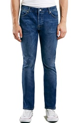 Topman Stretch Skinny Flare Jeans Blue