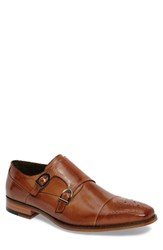 Stacy Adams Men's Trevor Double Monk Strap Shoe Tan Leather