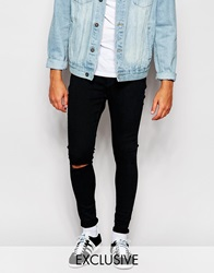 Cheap Monday Exclusive Jeans Mid Spray Extreme Super Skinny Dig Blue Ripped Knee Digblue