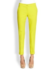 Etro Cuffed Ankle Length Pants Gold