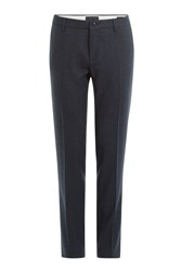 Etro Patterned Tailored Trousers Blue