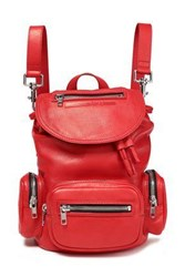 Mcq By Alexander Mcqueen Woman Leather Backpack Crimson
