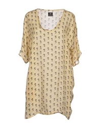 E.Vil Short Dresses Beige