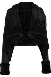 Gareth Pugh Cropped Shearling Jacket Black