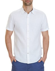 Nautica Classic Fit Linen Shirt Bright White
