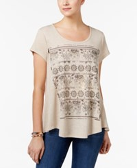 Style And Co Elephant Graphic T Shirt Only At Macy's Khaki