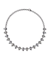 Margo Morrison Diamond And Crystal Skull Chain Necklace