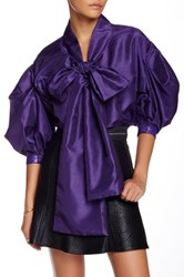Tov 3 4 Length Sleeve Puff Blouse Purple
