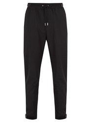 Givenchy Zip Cuff Wool Blend Trousers Black