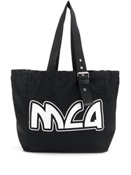 Mcq By Alexander Mcqueen Large Logo Print Tote Black
