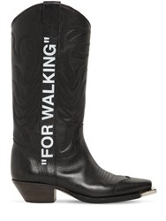 Off White 40Mm For Walking Leather Cowboy Boots Black