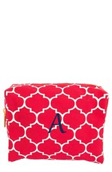 Cathy's Concepts Monogram Cosmetics Case Coral A