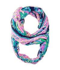 Lilly Pulitzer Resort Infinty Navy Dont Leave Me Hanging Scarves Multi