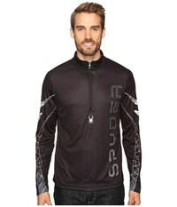 Spyder Powertrack Dry W.E.B. T Neck Black Cirrus Polar Men's Long Sleeve Pullover