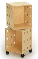 Offi Perf Boxes Storage Shelves Multicolor