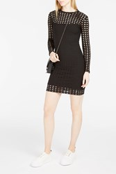 Alexander Wang T By Women S Circle Cut Out Dress Boutique1 Black
