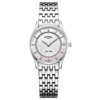 Rotary Women's Ultra Slim Bracelet Strap Watch Silver Multi