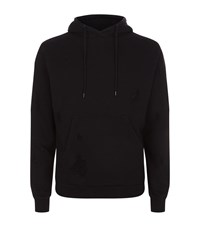 Sandro Cotton Destroy Hoodie Male Black