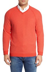 Tommy Bahama Men's 'Make Mine A Double' Reversible Pima Cotton V Neck Sweater Lava Flow