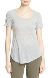 Atm Anthony Thomas Melillo Women's 'Sweetheart' Modal Tee Heather Grey