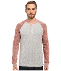 Lucky Brand Grey Label Color Block Henley Red Multi Men's Clothing