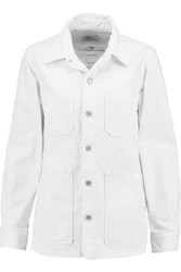 Current Elliott The Workman Cotton Blend Shirt Ivory