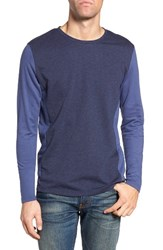 Singer Sargent Men's Colorblock T Shirt Navy Heather