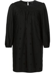 Marc Jacobs Broderie Anglaise Shift Dress Black