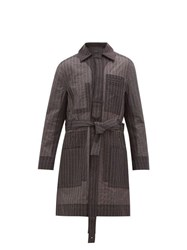 Craig Green Pinstripe Stitch Technical Organza Coat Grey