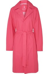 Rains Belted Matte Pu Trench Coat Pink