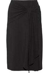 Jason Wu Gathered Crepe Skirt Black