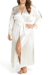 Flora Nikrooz Plus Size Women's By Stella Robe Ivory