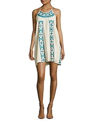 Kas Embroidered Tank Dress Off White