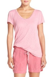 Hard Tail Cotton And Modal Tee Pink