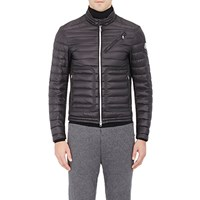 Moncler Down Quilted Moto Jacket Black