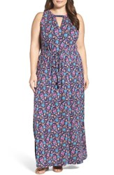 Lucky Brand Plus Size Women's Floral Print Maxi Dress