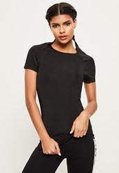 Missguided Active Black Fitted T Shirt