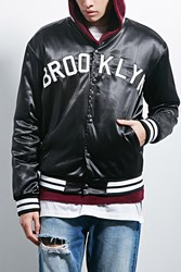 Forever 21 Antler And Woods Coaches Jacket Black White