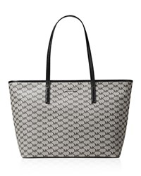 Michael Michael Kors Studio Large Emry Top Zip Tote Black Silver